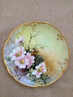 Antique Hand Painted Decorative Floral Dish | eBay