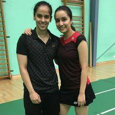 #ShraddhaKapoor | Pretty Gal @shraddhakapoor  commences Badminton lessons with Saina Nehwal for her biopic! @nehwalsaina .  #shraddha #saina  #dresses #dress #outfit #beautiful #beauty #bollywood #bollywoodstyle #fashion #fashionable #fashionista #fashionistas #fashionblogger #biopic  #bollywood #bollywoodactor #bollywoodactress #bollywoodstyle #bollywoodfashion #bollywoodmovie