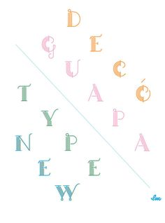 Guapa Decó, a even more fancy display typeface. on Typography Served