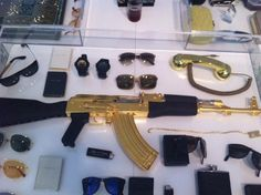 """Seen """"Rich Kids of Instagram""""? About that gold-plated AK-47... - The Style Blog - The Washington Post"""