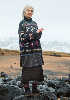 """Hildur"" sweater in cotton/wool – Iceland – GUDRUN SJÖDÉN – Webshop, mail order and boutiques 