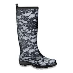 Super cute rainboots! I want these for college.