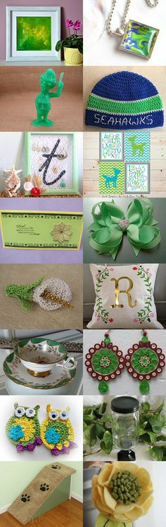 Shades of Green by Chris Helmes on Etsy--Pinned with TreasuryPin.com