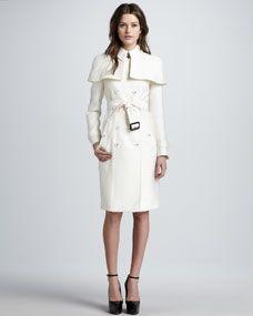 Caped Duchess Satin Trenchcoat. I need this coat. Immediately.
