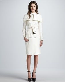 Season 3 Premier:  Caped Duchess Satin Trenchcoat