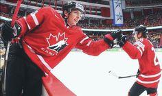 Matt Duchene representing Canada at the 2013 IIHF World Championships