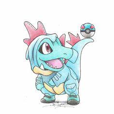 Ilustraciones de Pokémons disfrazados de sus evoluciones – Nerdgasmo