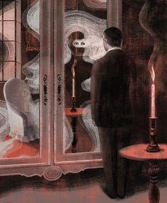 "Anna + Elena = Balbusso Illustrators - 2010 ""LE HORLA"" by G. De Maupassant, Edition Milan"