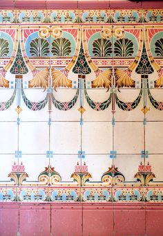 1000 images about bohemian patterns on pinterest for Art nouveau tile mural