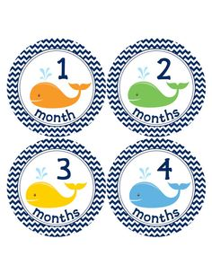 Baby Monthly Stickers for Baby Boys...Navy Blue by BuddhaBellies, $9.00