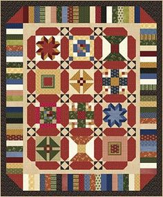 Free Quilt Pattern check out the Lasting Legacies BOM Sashing & Borders quilt, Aff link Star Quilt Patterns, Sewing Patterns, Craft Patterns, Sewing Ideas, Quilting Tutorials, Quilting Projects, Quilting Ideas, Sampler Quilts, Owl Quilts
