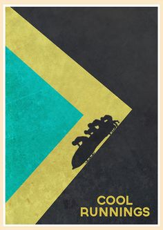 Cool Runnings (1993) - Minimal Movie Poster by Jon Glanville #minimalmovieposters #alternativemovieposters #jonglanville