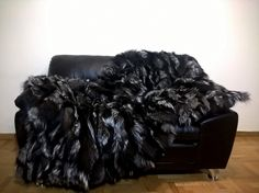 Luxury Real Silver Fox Throw Blanket by LUXURYFURS on Etsy