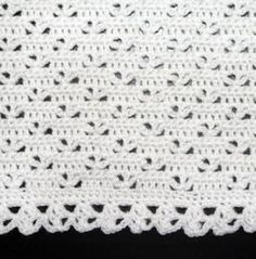 Crochet Pattern | Baby Blanket / Afghan - Easy Lace