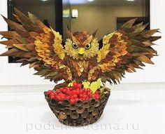 Поделка сова из листьев - милая подборка (24 картинки) Fall Arts And Crafts, Autumn Crafts, Autumn Art, Spring Crafts, Diy And Crafts, Crafts For Kids, Nature Decor, Nature Crafts, Make Up Art