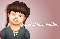 "crazycupcakefr: "" Hello everyone! So I am back with this cute very simple hairstyle for you toddlers! I hope you will enjoy! • BASE GAME COMPATIBLE • 9 swatches • HAT COMPATIBLE DOWNLOAD AT MY BLOGGER..."