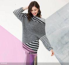 Современный взгляд на полоску: пуловер спицами. Обсуждение на LiveInternet - Российский Сервис Онлайн-Дневников