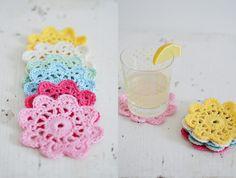 The Yvestown Blog   Crochet Flower Coaster #freecrochetpattern
