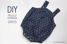 Sewing Patterns Free, Free Sewing, Free Pattern, Sewing Projects For Beginners, Sewing Tutorials, Trendy Baby, Romper Tutorial, Costura Diy, Diy Bebe