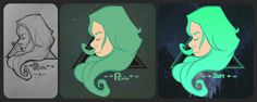 Step by step vector digital painting stars girl