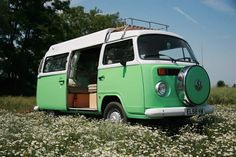 step 1: obtain vw van, preferably mint green or pale yellow