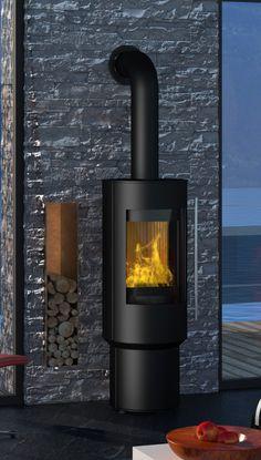 Design-Kamin-Ofen OLSBERG Pico Compact Standkamin, Stahlkamin drehbar - Durch seine Drehfunktion können Sie die urigen Flammen von allen Positionen sehen
