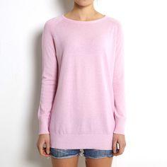 Oversized sweater pink cashmere www.wildwool.no
