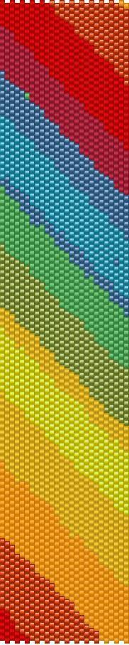 Peyote Bracelet Beading Pattern Rainbow by GoldenValleyCraft