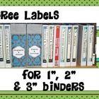"""Free 1"""", 2"""" and 3"""" Template Labels for your Binders' Organization.  Donnez votre FEEDBACK et accumulez des crédits lors de vos prochains achats sur..."""