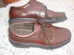 NICE Men's Hush Puppies Float Fx Leather Oxford Shoes Cognac Brown SIzE 13  #HushPuppies #Oxfords