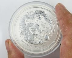 2012  Year Of the dragon Five Ounce Silver Coin BU australian bullion silver coins, silver bullion ,perth mint coins, lunar series silver coins