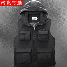 Summer Autumn Men Multifunctional Quick-Drying Mesh Fishing Vest Jacket Loose Multi-Pocket Outdoor Photography Angler Waist coat