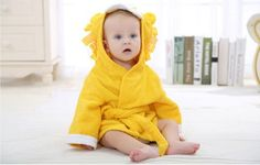 NEW Design Cartoon Baby Towel Character Hooded Animal Baby Bathrobe Kids Bath Robe Infant Beach Towels BM0202