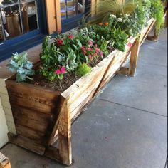 Rustic planter box in Fredericksburg, TX