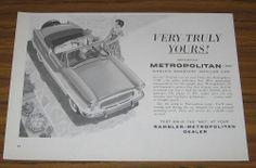 1960 Vintage Ad The Metropolitan 1500 Convertible Car Worlds Smartest