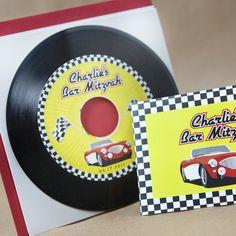 Rockin Record Bar Mitzvah Invitation (50's Diner) - Design Fee by beyonddesign (($))
