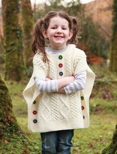 Direct from the Aran Islands, home of the Aran Irish Sweater is our Aran Knitwear for boys and girls. Kids Irish Sweaters are available for boys and girls as well as many adorable wool Irish cardigans for children. Crochet Jacket, Crochet Poncho, Crochet Baby, Baby Knitting Patterns, Baby Patterns, Winter Baby Clothes, Hooded Poncho, Wool Sweaters, Kids Wear