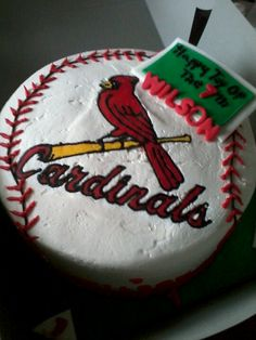 Cardinals birthday cake