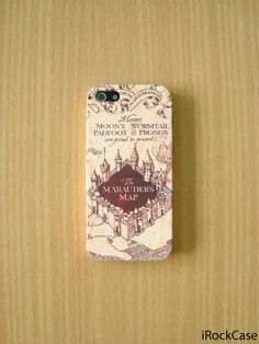 Marauder's Map iPhone Case Harry Potter iPhone Case by iRockCase, $19.99. This is so going to be mine.