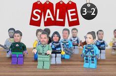 Custom make your OWN head for Lego Minifigure by funky3Dfaces