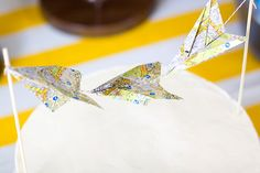 paper airplane garland (boys in my primary class could whip these up for you in no time, I'm sure :)
