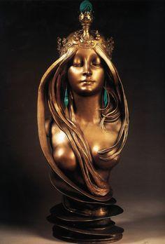 Artist unattributed, but an unsurpassable example of Art Nouveau.  Lalique? http://25.media.tumblr.com/62976d087fafc686872e107088db25ad/tumblr_mmsea96NCi1rt8jooo1_1280.jpg