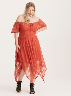 c15536c6233aa Torrid Insider Lace Off Shoulder Midi Dress