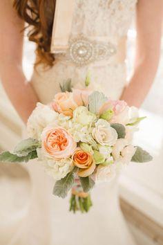 delicate peach bouquet