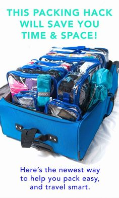 Need packing cubes // The Complete Bundle in Orange. Eight packing cubes, two shoe bags, one laundry bag, folding boards, and a duffle bag for packing an organized suitcase! Packing Cubes, Packing Tips For Travel, Travel Essentials, Travel Bags, Packing Tricks, Europe Packing, Traveling Europe, Backpacking Europe, Travelling Tips