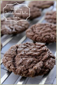 Gluten Free Chocolate Peanut Butter Cookies! Make it Gluten Free and visit www.absolutelygf.com for more! #desserts #recipes #glutenfree
