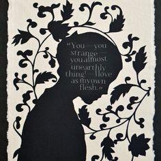 Jane Eyre #charlottebronte #fanart #silhouette