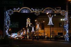 Arcada de luz, vista de la 2 Norte y 22 Oriente Centro Histórico, Puebla, Mex. Tomada por KiraBrilla