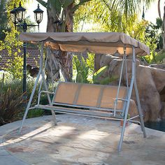 Swings 79700: Canopy For Outdoor Furniture Wrought Iron Patio Swing Canopy  Porch Glider 2 Seat  U003e BUY IT NOW ONLY: $89.98 On EBay!