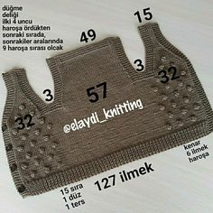Baby Boy Knitting Patterns, Baby Sweater Knitting Pattern, Baby Dress Patterns, Hand Knitting, Crochet Yoke, Crochet Mandala Pattern, Crochet Baby, Baby Blog, Baby Vest